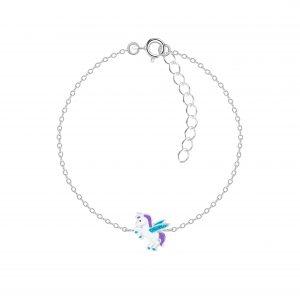 Wholesale Silver Winged Unicorn Bracelet