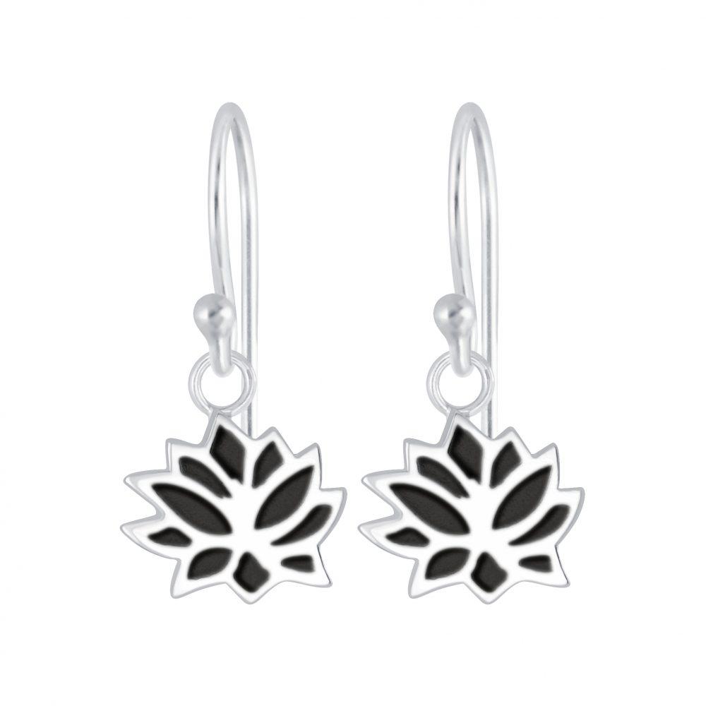 Wholesale Silver Lotus Flower Earrings