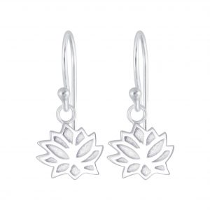 Wholesale Silver Lotus Flower Earrings