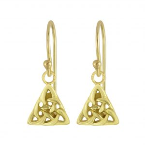 Wholesale Silver Celtic Triangle Earrings