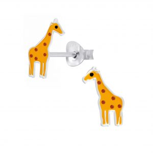 Wholesale Silver Giraffe Stud Earrings