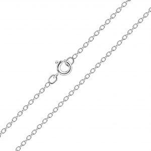 Wholesale 50cm Silver Cable Chain