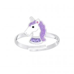Wholesale Silver Unicorn Adjustable Ring