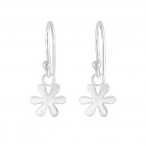 Wholesale Silver Flower Earrings