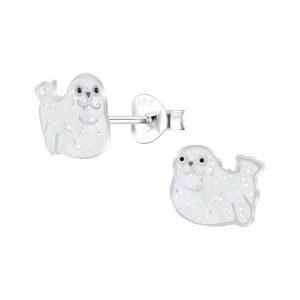 Wholesale Silver Seal Stud Earrings