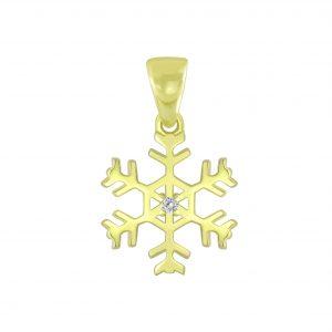 Wholesale Silver Snowflake Pendant