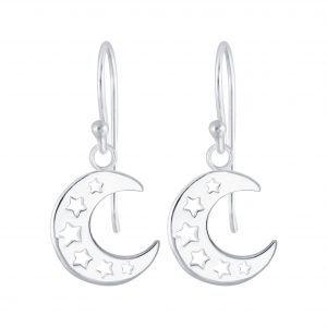 Wholesale Silver Moon Earrings