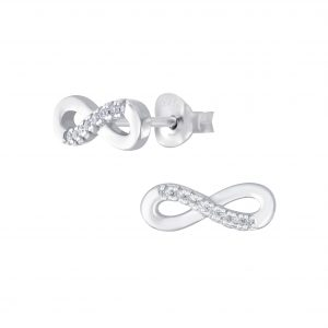 Wholesale Silver Infinity Stud Earrings