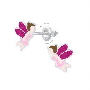 Wholesale Silver Fairy Screw Back Earrings