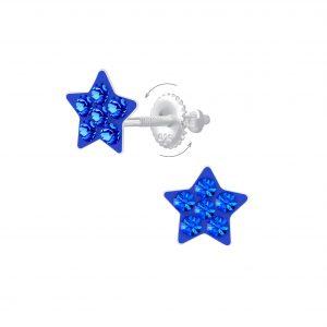 Wholesale Silver Star Screw Back Earrings