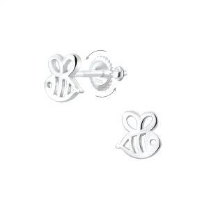 Wholesale Silver Bee Screw Back Earrings
