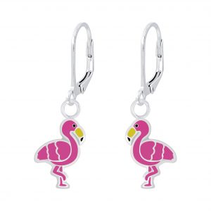 Wholesale Silver Flamingo Lever Back Earrings