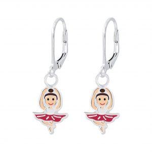 Wholesale Silver Ballerina Lever Back Earrings