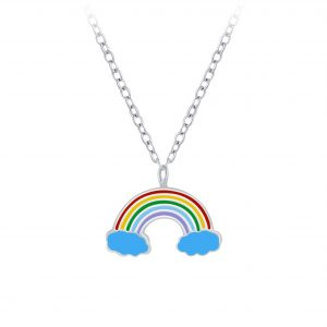 Wholesale Silver Rainbow Necklace