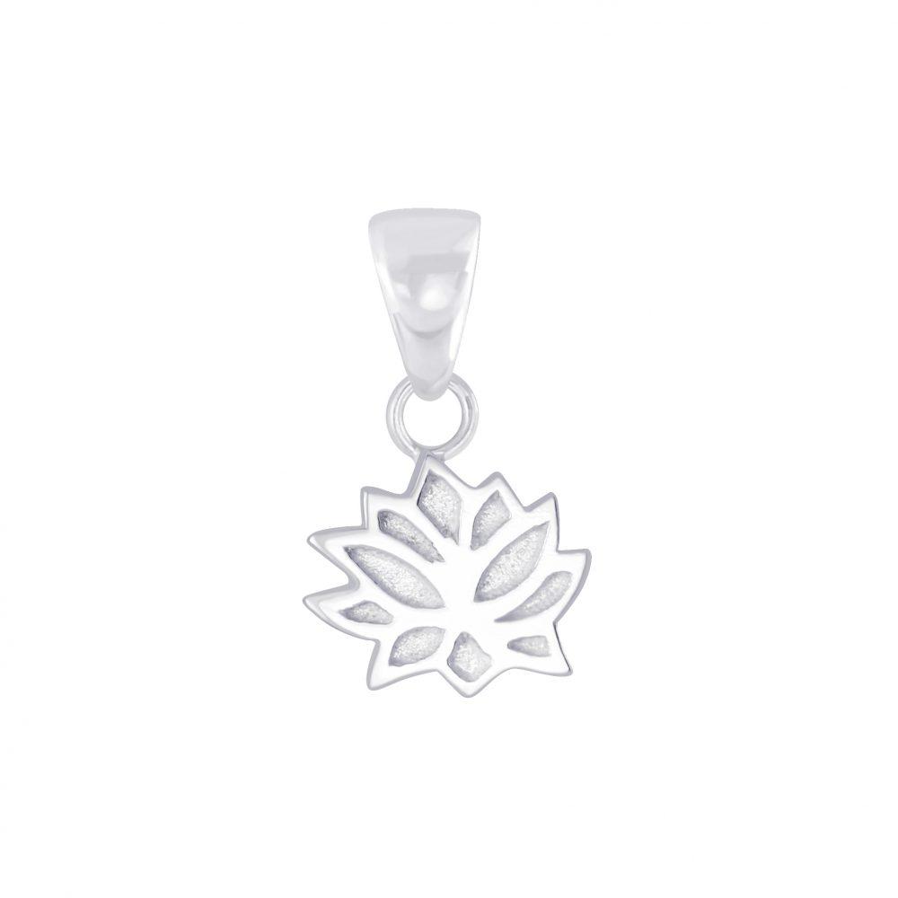 Wholesale Silver Lotus Flower Pendant