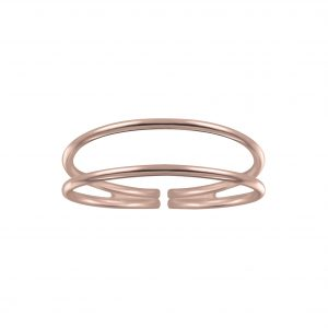 Wholesale Silver Double Line Ring