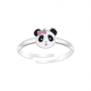 Wholesale Silver Panda Adjustable Ring