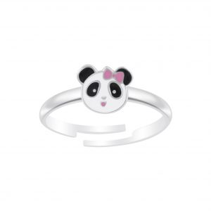 Wholesale Silver Panda Adjustable Ring
