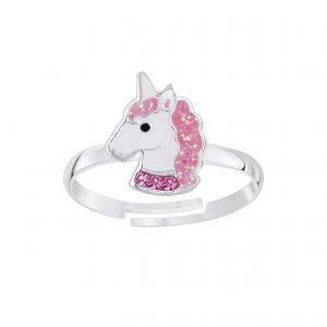 Wholesale Silver Unicorn Adjustable Ring