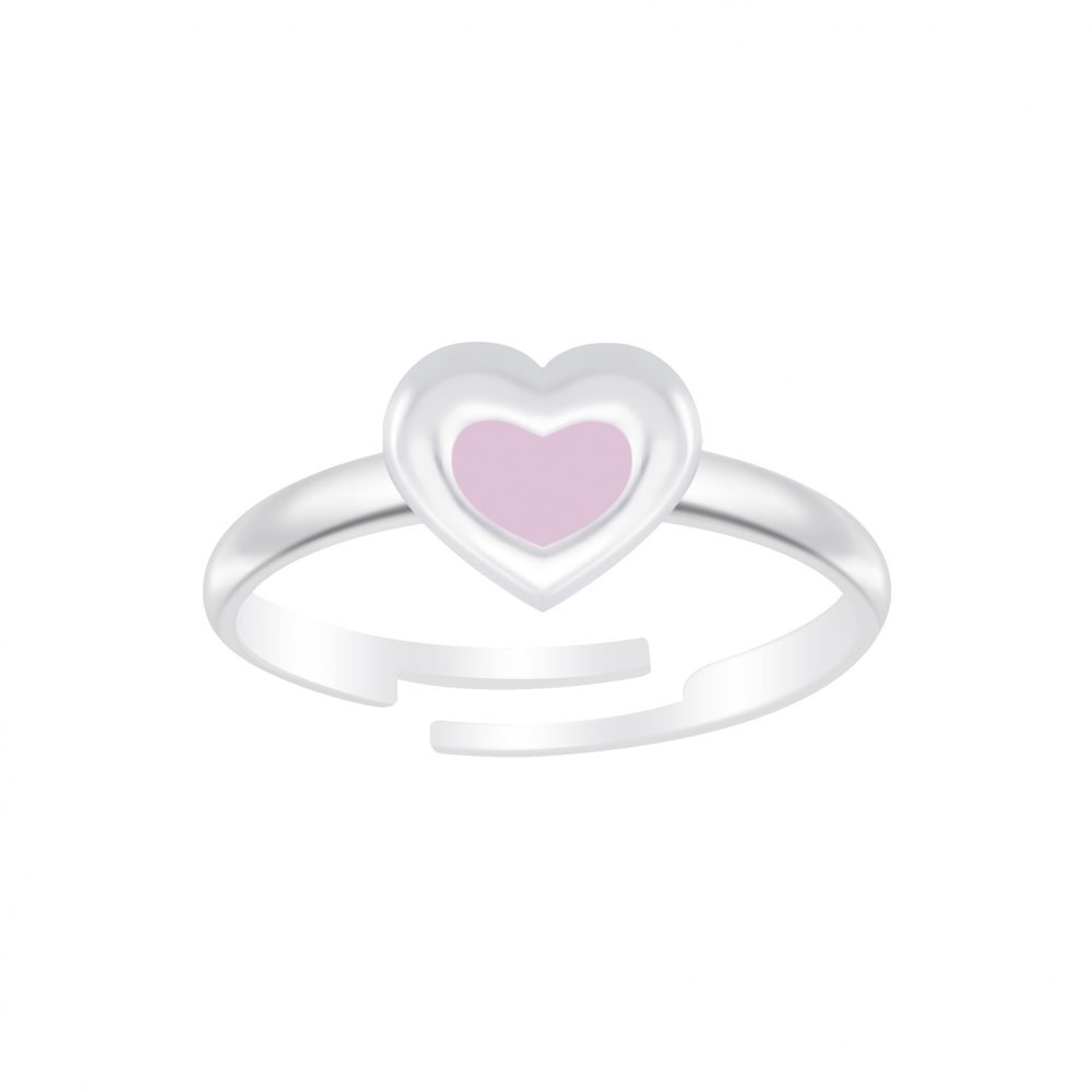 Wholesale Silver Heart Adjustable Ring