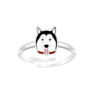 Wholesale Silver Dog Adjustable Ring