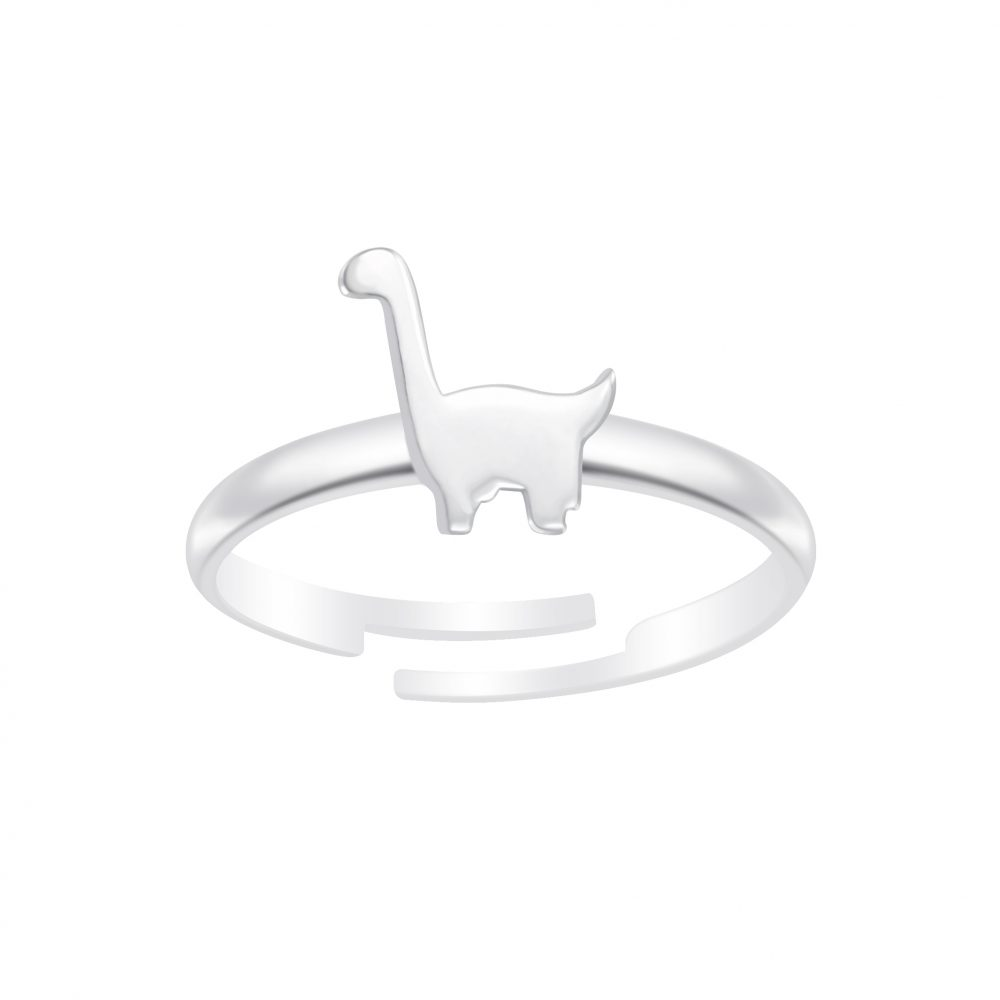 Wholesale Silver Dinosaur Adjustable Ring