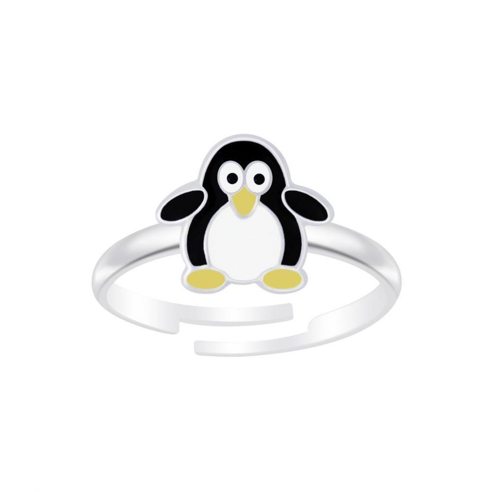 Wholesale Silver Penguine Adjustable Ring