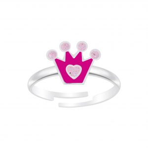 Wholesale Silver Crown Adjustable Ring