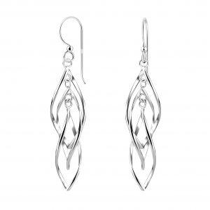 Wholesale Silver Twisted Earrings