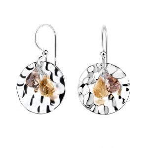 Wholesale Silver Patterned Earrings with Crystals