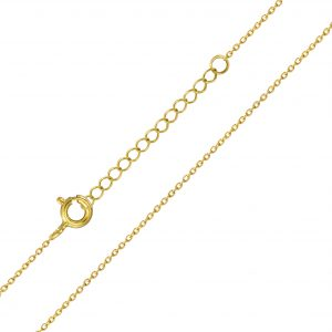 Wholesale 41cm Silver Extendable Cable Chain