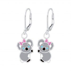 Wholesale Silver Koala Lever Back Earrings