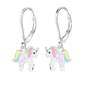 Wholesale Silver Unicorn Lever Back Earrings