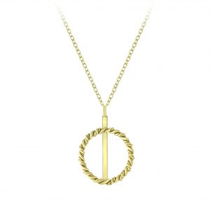 Wholesale Silver Twisted Circle Necklace