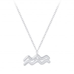 Wholesale Silver Aquarius Zodiac Sign Necklace