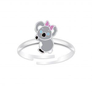 Wholesale Silver Koala Adjustable Ring