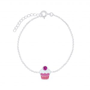 Wholesale Silver Cupcake Bracelet