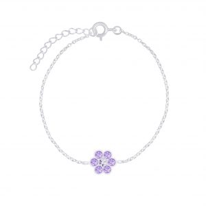 Wholesale Silver Flower Bracelet