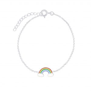 Wholesale Silver Rainbow Bracelet
