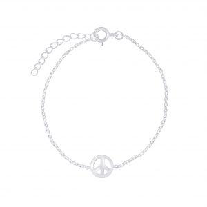 Wholesale Silver Peace Symbol Bracelet