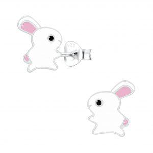 Wholesale Silver Rabbit Stud Earrings