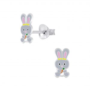Wholesale Silver Rabbit Stud Earrings