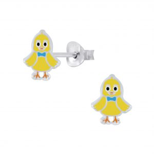 Wholesale Silver Chick Stud Earrings
