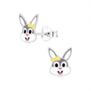 Wholesale Silver Bunny Stud Earrings