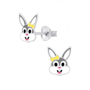 Wholesale Silver Bunny Stud Earrings