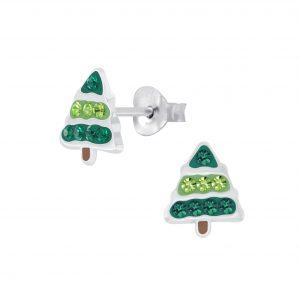 Wholesale Silver Tree Stud Earrings