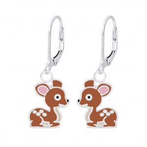 Wholesale Silver Deer Lever Back Earrings