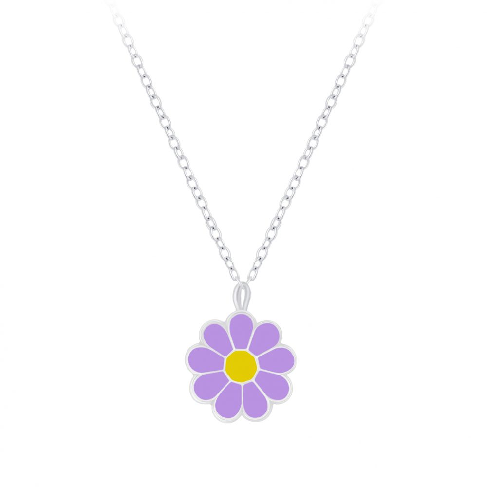 Wholesale Silver Daisy Flower Necklace