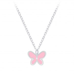 Wholesale Silver Butterfly Necklace