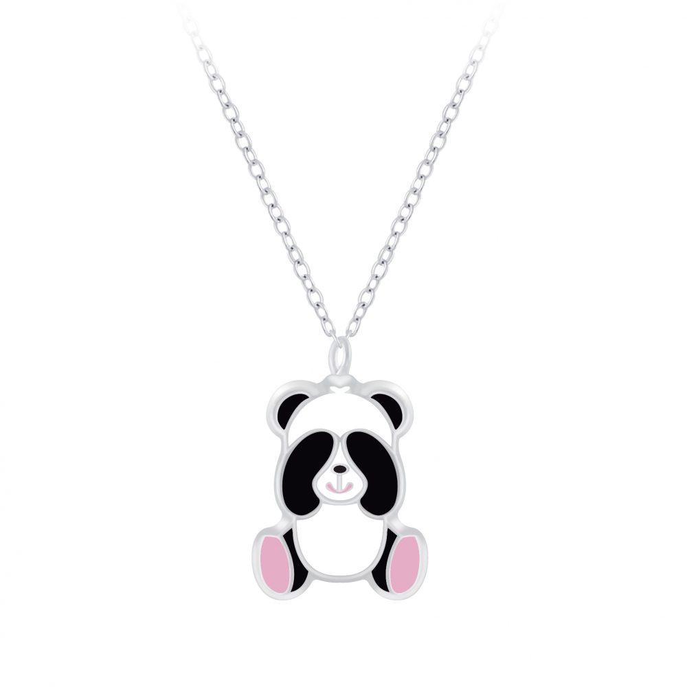 Wholesale Silver Panda Necklace